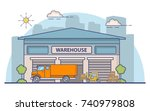 warehouse the building for... | Shutterstock .eps vector #740979808