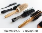 hair tools  beauty and... | Shutterstock . vector #740982820