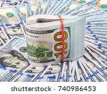 Folded American Dollar Bills...