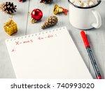 christmas gifts shopping... | Shutterstock . vector #740993020