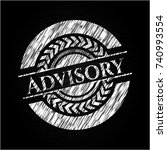 advisory chalk emblem written... | Shutterstock .eps vector #740993554