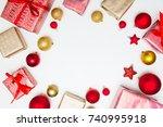 christmas card. christmas...   Shutterstock . vector #740995918