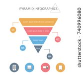 infographic colorful pyramid... | Shutterstock .eps vector #740996080