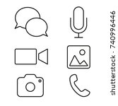 line icons. set of icons  ... | Shutterstock .eps vector #740996446