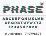 vector decorative futuristic... | Shutterstock .eps vector #740996878
