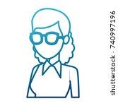 school teacher cartoon | Shutterstock .eps vector #740997196