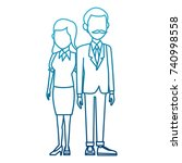 teachers teamwork couple | Shutterstock .eps vector #740998558