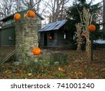 Pumpkin Shed And Pumpkins
