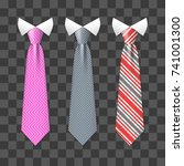 colorful realistic neck ties... | Shutterstock .eps vector #741001300
