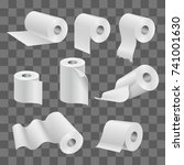 white toilet paper roll and... | Shutterstock .eps vector #741001630