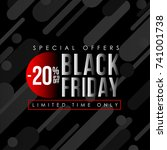 black friday banner  sales and... | Shutterstock .eps vector #741001738