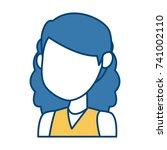 girl faceless cartoon | Shutterstock .eps vector #741002110