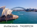 aerial view on the sydney... | Shutterstock . vector #741009154