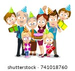vector illustration of big... | Shutterstock .eps vector #741018760