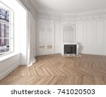 interior of an empty elegant... | Shutterstock . vector #741020503