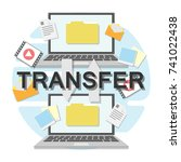 file transfer between two... | Shutterstock .eps vector #741022438