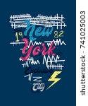 new york exclusive city t shirt ...   Shutterstock .eps vector #741025003