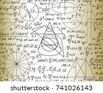 scientific mathematical vector... | Shutterstock .eps vector #741026143