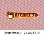 shiny badge with hanger with... | Shutterstock .eps vector #741035470