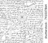 mathematical scientific vector... | Shutterstock .eps vector #741037864