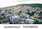 la chaux de fonds town in... | Shutterstock . vector #741038494