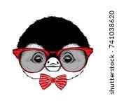 image portrait of cartoon... | Shutterstock .eps vector #741038620