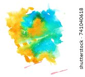colorful abstract watercolor... | Shutterstock .eps vector #741040618