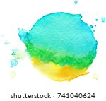 colorful abstract watercolor... | Shutterstock .eps vector #741040624