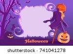 Vector Poster Halloween. Jack...