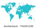 color world map   Shutterstock .eps vector #741051100