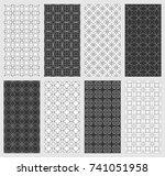set of seamless geometric...   Shutterstock .eps vector #741051958