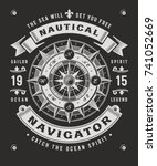 vintage nautical navigator... | Shutterstock . vector #741052669