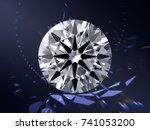 ideal cut round diamond with...   Shutterstock . vector #741053200