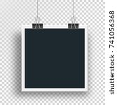 vector photo frame clamped... | Shutterstock .eps vector #741056368
