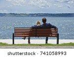 italy  bracciano lake  rome  ... | Shutterstock . vector #741058993