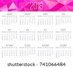 year 2018 vector monthly...   Shutterstock .eps vector #741066484
