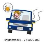 drunk driving. | Shutterstock .eps vector #741070183