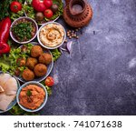 selection of middle eastern or... | Shutterstock . vector #741071638