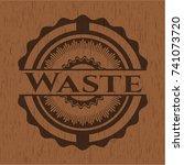 waste wooden emblem. retro | Shutterstock .eps vector #741073720