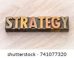 strategy word abstract in... | Shutterstock . vector #741077320