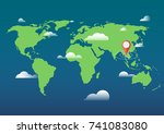 high detail world map.all... | Shutterstock .eps vector #741083080