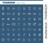 big tourism icon set   Shutterstock .eps vector #741083224