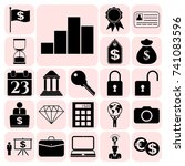 set of 22 business icons ... | Shutterstock .eps vector #741083596