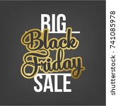 abstract vector black friday... | Shutterstock .eps vector #741085978