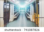 view of bright empty interior... | Shutterstock . vector #741087826
