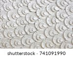 white wave pattern thai style... | Shutterstock . vector #741091990