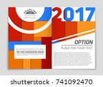 abstract vector layout... | Shutterstock .eps vector #741092470