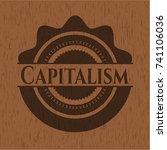 capitalism realistic wooden... | Shutterstock .eps vector #741106036