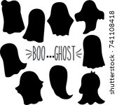 ghost hand sketch silhouette | Shutterstock .eps vector #741108418