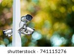 multi angle cctv system... | Shutterstock . vector #741115276